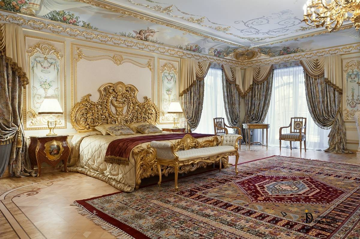 Magnificent bedroom in the Baroque style - Studio Decor Park Zodchy