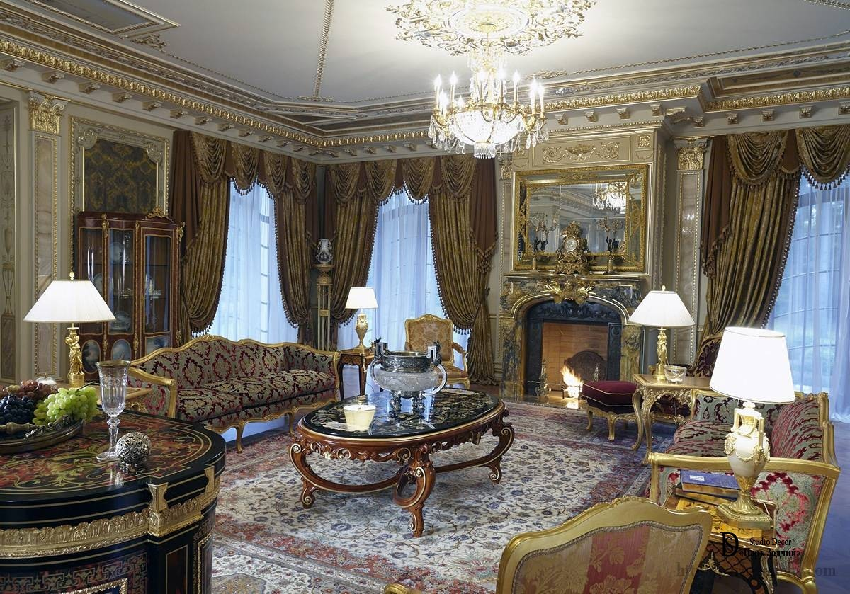 Luxurious interior in Empire style