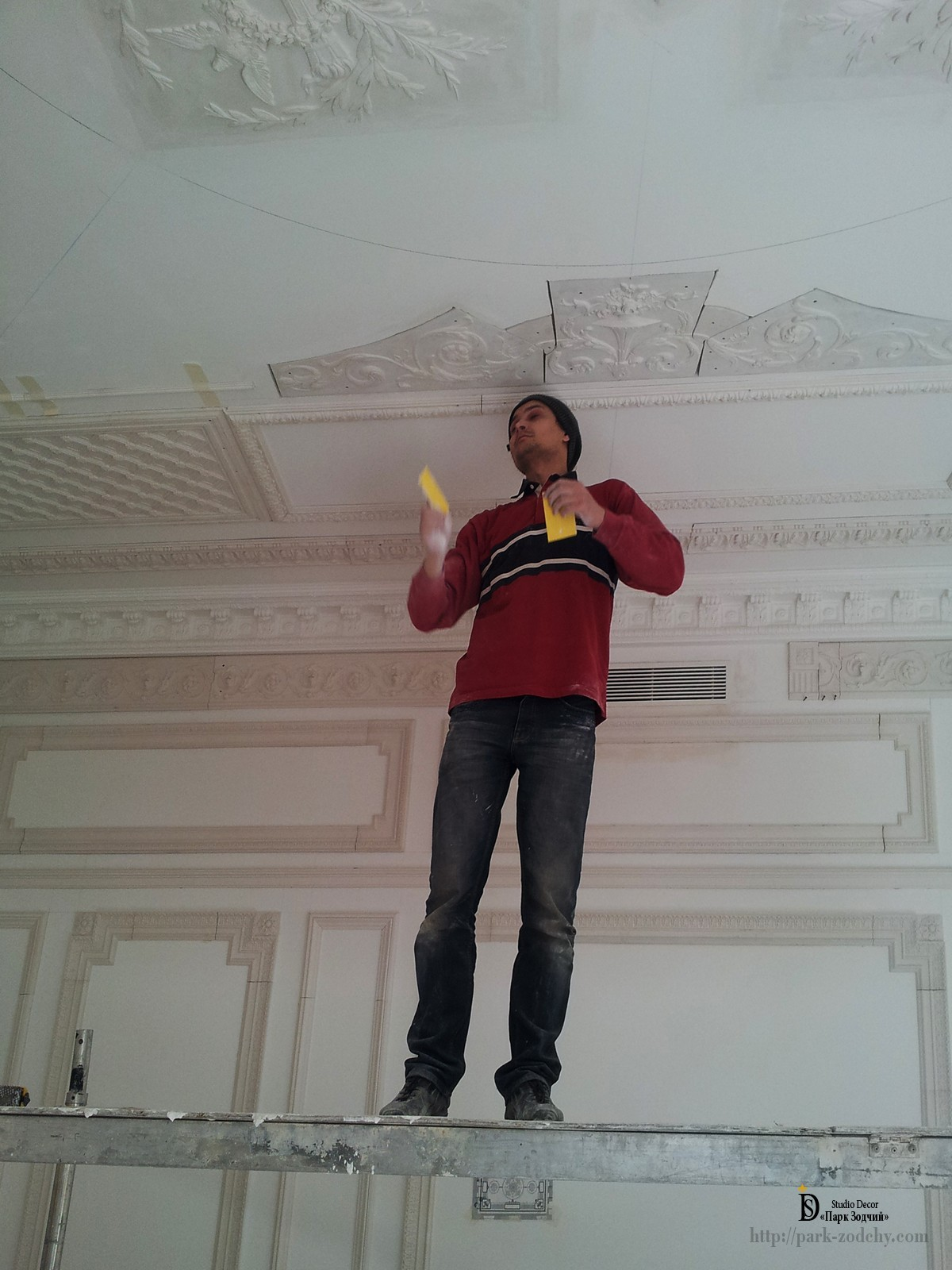 finish stucco ceiling in the house