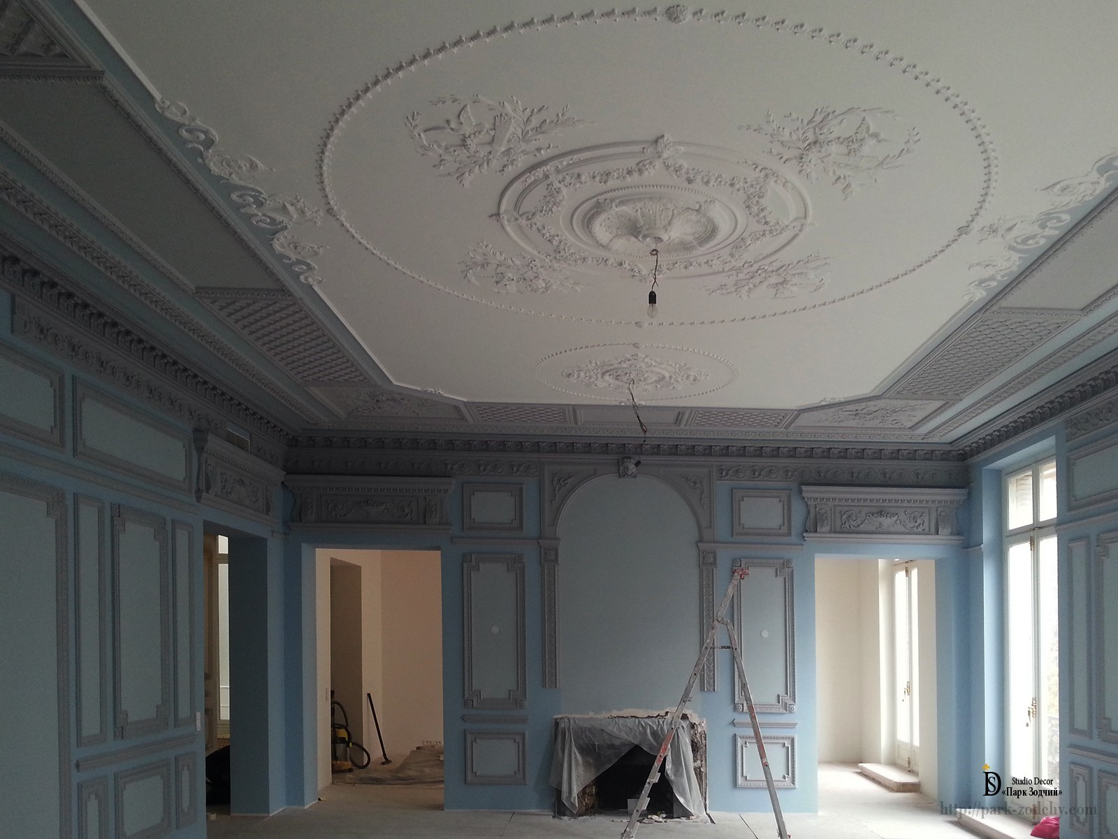 stucco on the ceiling