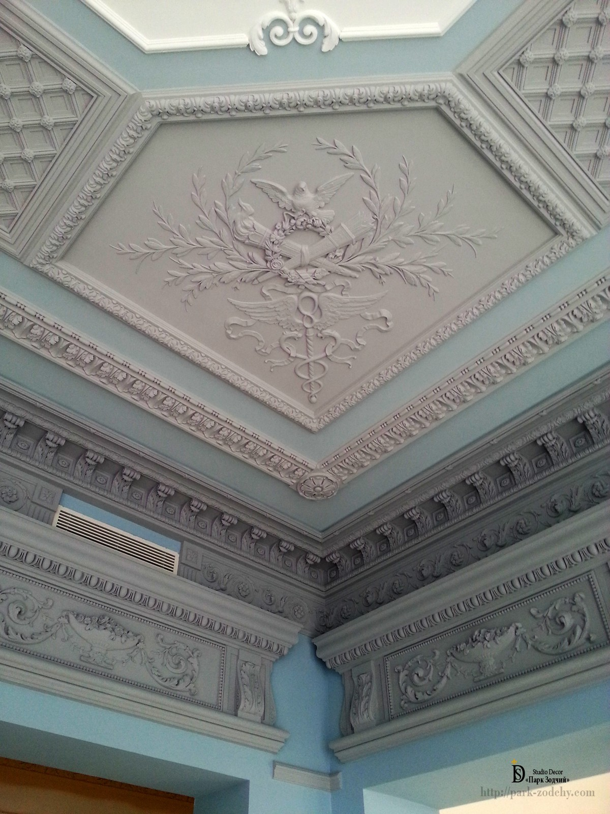 the decoration of plaster